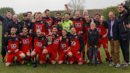 Henley Athletic celebrate with the SIL Senior Division title on Saturday.
