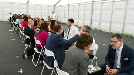 Speed networking at last year's Anglia Business Exhibition. Picture: Keith Mindham Photography