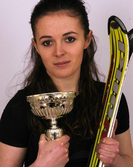 Jasmin Taylor aged 17, after first being selected to compete in the Telemark World Junior Championsh