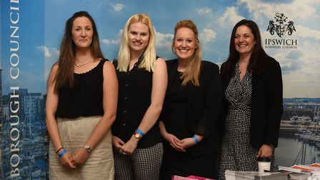 From left, Michelle Gordon, Olivia Grant, Lizzie Mapplebeck and Maxine Narburgh at the Ipswich Borou