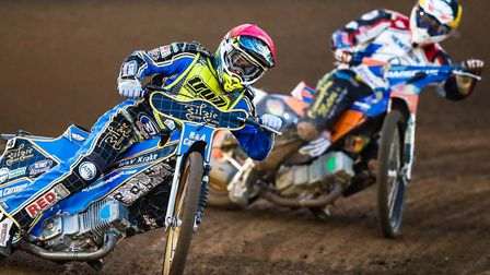 Justin Sedgmen leading Stefan Nielsen. The Aussie has been re-instated in the Witches team