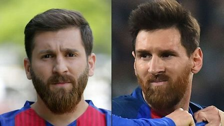 Lionel Messi and Reza Parastesh, not necessarily in that order!