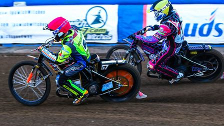 Connor Mountain ahead of Jack Parkinson-Blackburn at Foxhall recently.