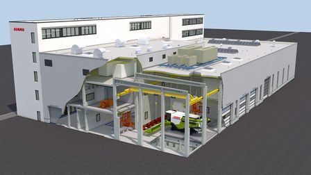 An impression of what Claas's new 15m euros test centre at its Harsewinkel headquarters in Germany