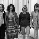 ABBA won Eurovision in 1974 with Waterloo, which became their first number one single in the UK. Pic