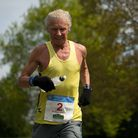 Andy Wilmot, in action during last Sunday's Halstead Marathon. It was the 72-year-old veteran's 712