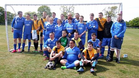 Bury Town Wanderers and Waveney FC, participants in the Ability Counts Festival in Ipswich