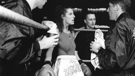 Gillian's shot of a female kick boxer. Enjoying photographing people, she studied photojournalism at