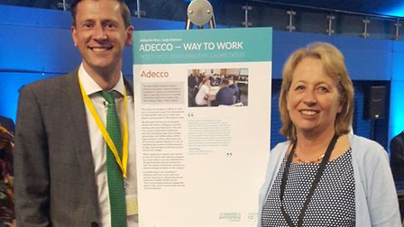 Peter Page, regional manager at Adecco (and enterprise adviser for East Bergholt High School) and Ja