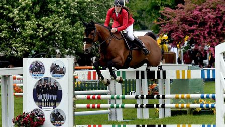 Professional show jumping at the Suffolk Show.