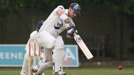 Frinton captain, Kyran Young, who scored 86 not out in his side's big win over Copdock & Old Ipswich