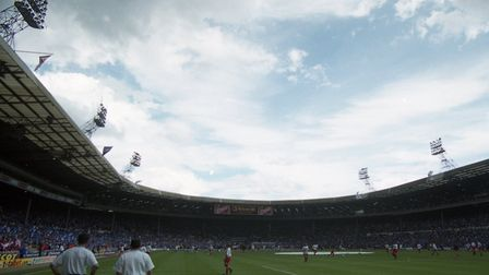 Wembley Stadium in 2000 as Ipswich Town take on Barnsley in the play-off final
