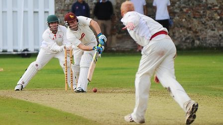 Sudbury batsman Darren Batch, who top-scored with 42 on a difficult pitch in his side's win at Vauxh