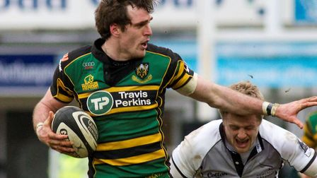Jon Clarke, Bury St Edmunds' new head coach, in action for Northampton Saints. Clarke played for the