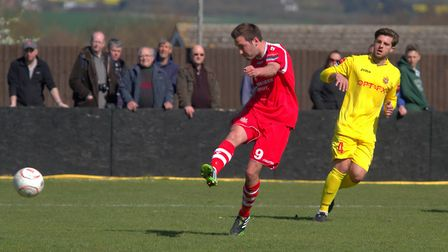 Sam Newson, in action for former club, Needham Market.