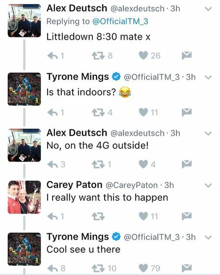 Former Ipswich Town footballer Tyrone Mings joined Bournemouth fans for a kick-about following this