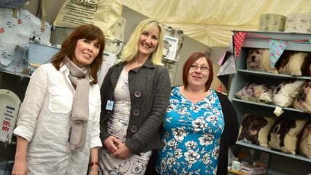 L-R Debbie Golder, Jill Barrett and Sue Cullum pictured at last year's Suffolk Show. There will be s