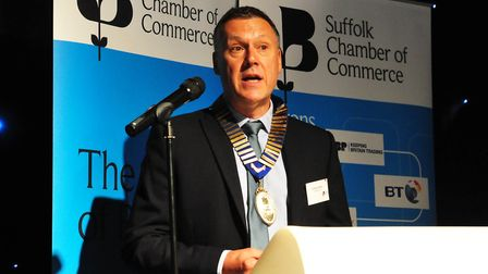 Graham Abbey speaking at the Suffolk Chamber of Commerce June Networking Lunch and AGM held at The H