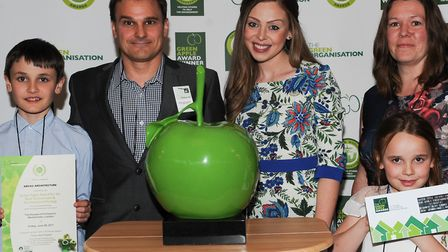 Lucy McGoogan (centre) at the Green Apple Awards