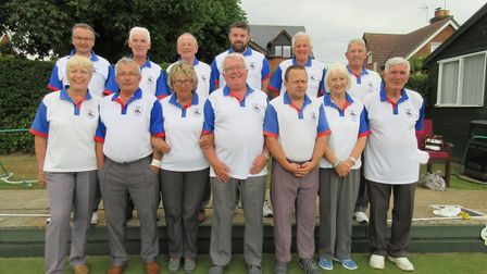 The Margaret Catchpole tea line up before their Junior Cup clash with Norbridge, at Brantham, on Fri