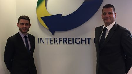 From left, Interfreight (UK) Ltd AEO compliance manager Dave Ablitt (Left) and owner Danny Summers.