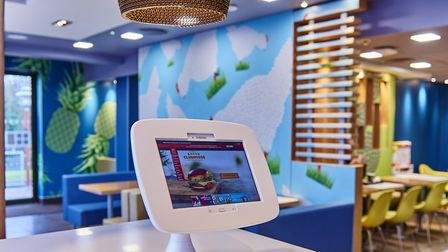 Digital makeover at McDonald's restaurant, at White House Industrial Estate, Ipswich.