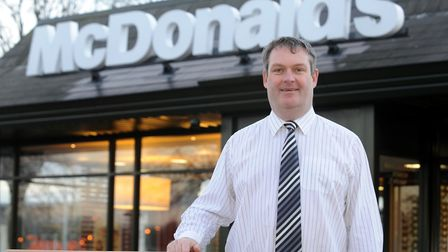 Mark Richards, who owns several McDonalds franchises in Ipswich.