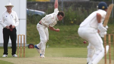 Dustin Melton, who took four for 27 during Sudbury's comfortable win over Horsford in the East Angli