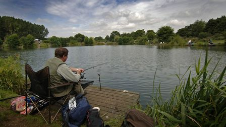 A fisherman pictured at Barford lakes. Picture: ANTONY KELLY