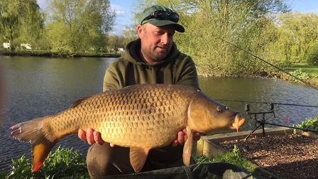 Dan Kirks common weighed at 25lb 9�ozs. Picture: NARBOROUGH FISHERIES