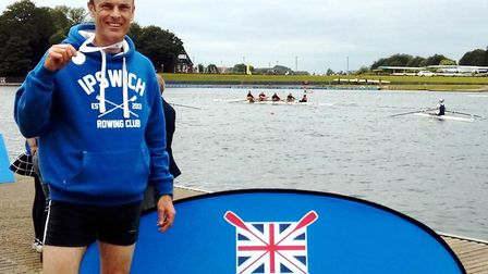 Ipswich rower Tom Day took silver at the National Masters Championships
