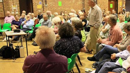Audience members at the recent conference in Woodbridge on Sizewell. Picture: AIDAN SEMMENS