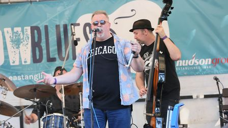 The Blues Spiders play the StowBlues Festival. Picture GARY DONNISON.