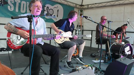 Local favourites Back Porch close the show at StowBlues Festival. Picture GARY DONNISON.