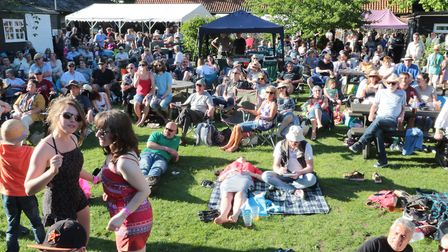 Large crowds at the StowBlues Festival. Picture GARY DONNISON.