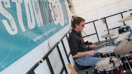 The Keno Kings drummer Dave Sparrow. Picture: GARY DONNISON.