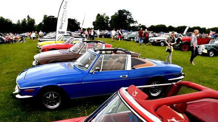 Classic cars were a popular feature of the Euston Rural Pastimes. Picture: ANDY ABBOTT
