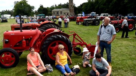 Visitors relax at the event at Euston Hall. Picture: ANDY ABBOTT