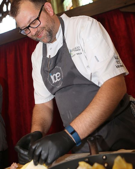 Scott Taylor gives cooking demos . Picture: SEANA HUGHES.