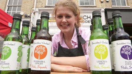Lucy Earland with Posh Squash . Picture: SEANA HUGHES.