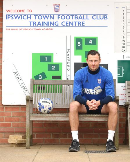 Ipswich Town footballer, Tommy Smith pictured at the clubs training ground. Picture : RICHARD MARSH