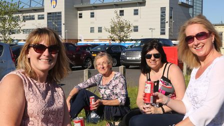 Helen Newman, Lisa Stapleton, Nicky Butley and Jenny Reynolds at the Olly Murs concert. Picture: SE