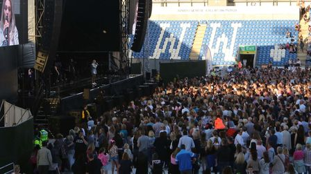 Crowds enjoying the Olly Murs concert in Colchester. Picture: SEANA HUGHES.