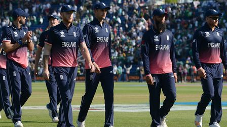 Dejected England players trudge off after losing to Pakistan. Picture: PA SPORT