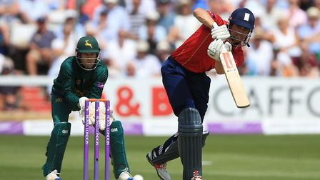 Essex's Alastair Cook on his way to a brilliant century.