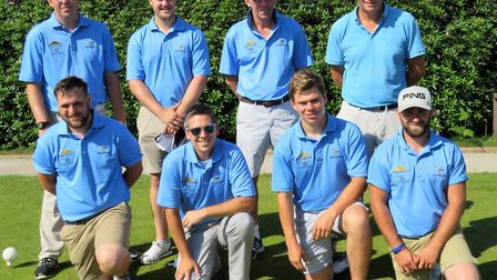 The Woodbridge team which beat Flempton in the second round of the Hambro Cup. They now visit Bury S