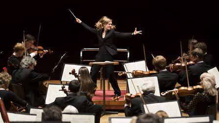 The City of Birmingham Symphony Orchestra conducted by Mirga Grazinyte-Tyla performing at the Aldebu