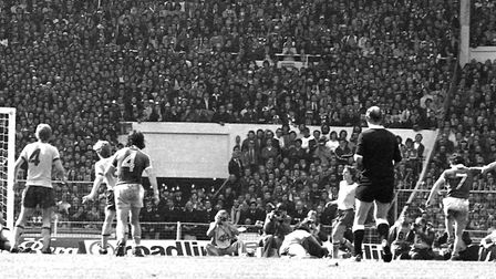 It's THAT moment - the most famous goal in Ipswich Town's entire history. Roger Osborne has just swu