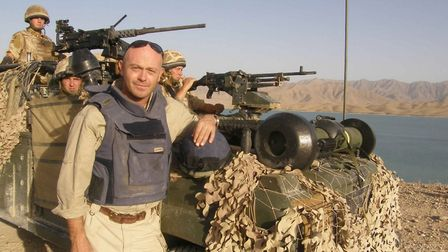 Ross Kemp with the Royal Anglians in Afghanistan. Photo: Contributed