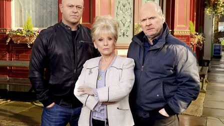 Ross Kemp as Grant Mitchel is reunited with Barbara Windsor as Peggy Mitchell and Steve McFadden as